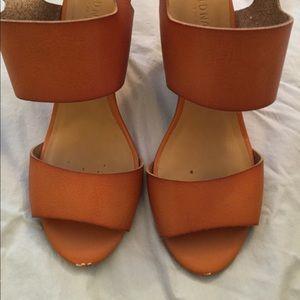 Old Navy brown wedge sandals
